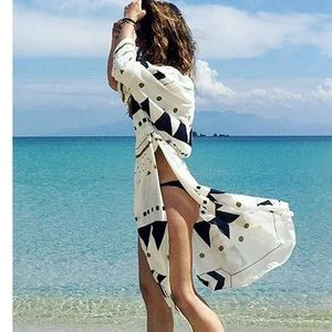 Bikini cover up kimono